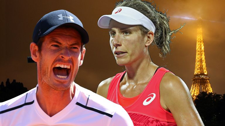 Andy Murray and Johanna Konta - French Open Graphic 2017