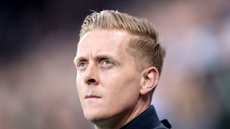 Garry Monk during the Sky Bet Championship match against Newcastle United at St James' Park