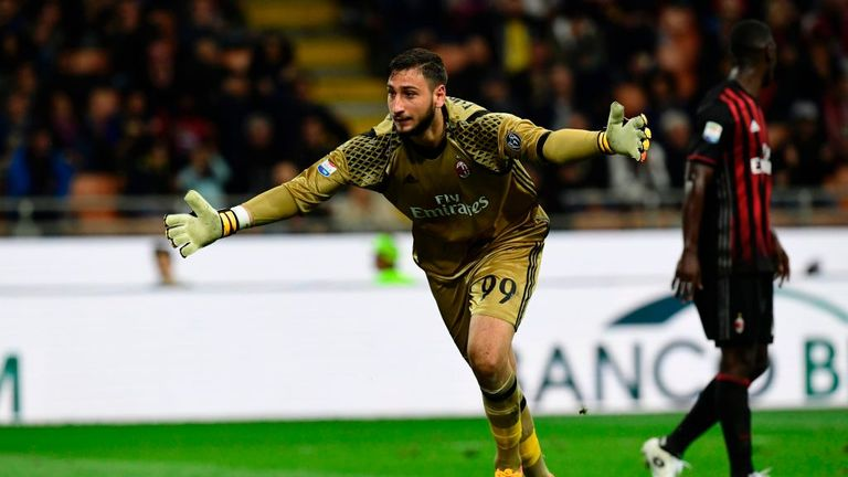 AC Milan's goalkeeper Gianluigi Donnarumma has been linked with a move to Manchester City
