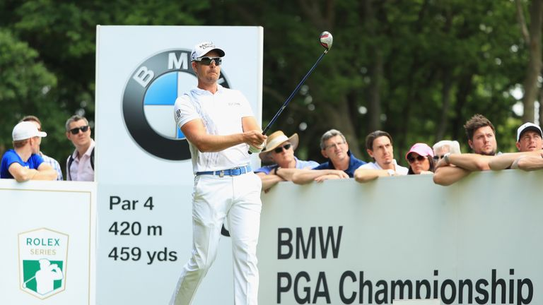 Henrik Stenson during day one of the BMW PGA Championship at Wentworth