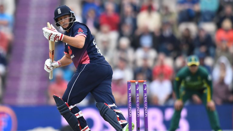 England's Joe Root bats during the second One-Day International between England and South Africa of the South Africa in England series in Southampton