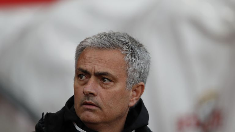 Manchester United's Portuguese manager Jose Mourinho waits for kick off of the English Premier League football match between Southampton and Manchester Uni