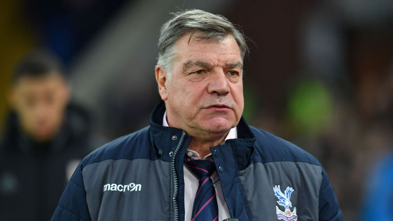 Crystal Palace's English manager Sam Allardyce arrives ahead of the English Premier League football match between Crystal Palace and Middlesbrough
