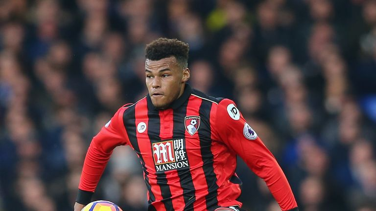 LIVERPOOL, ENGLAND - FEBRUARY 04:  Tyrone Mings of AFC Bournemouth during the Premier League match between Everton and AFC Bournemouth at Goodison Park on