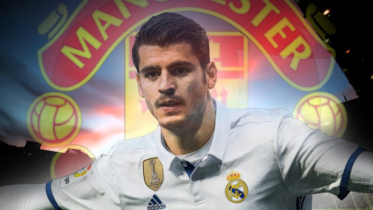 Real Madrid forward Alvaro Morata is a target for Manchester United