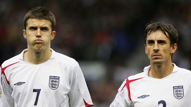 Michael Carrick and Gary Neville were England team-mates