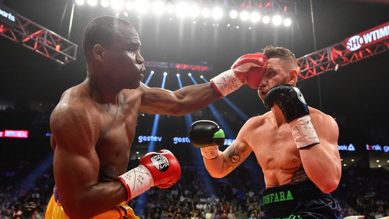 Stevenson failed to KO Fonfara in the first fight but stopped his opponent in two in the rematch