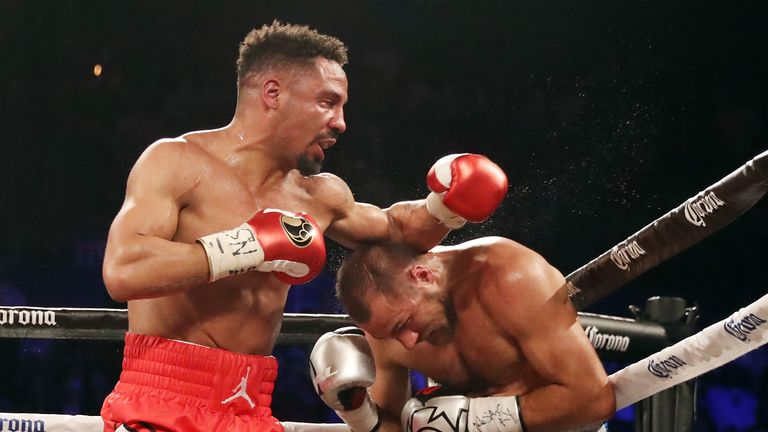 Ward in a rematch knocked out Kovalev