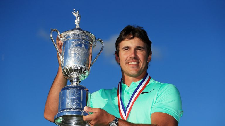 Brooks Koepka won the US Open by four shots to win his first major title