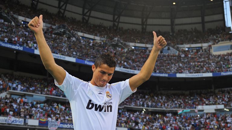 Cristiano Ronaldo was unveiled by Real Madrid in 2009