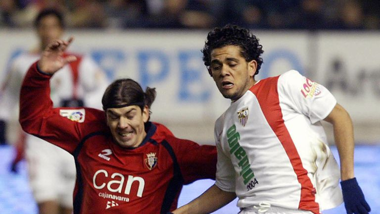 Dani Alves in action for Sevilla in 2005