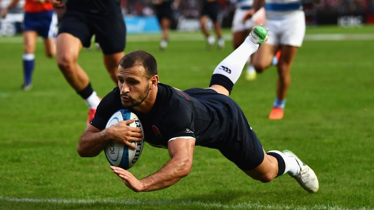 Danny Care crosses for the match-winning try