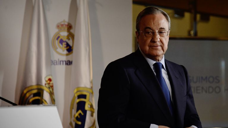 Florentino Perez was re-elected as Real Madrid president at the weekend