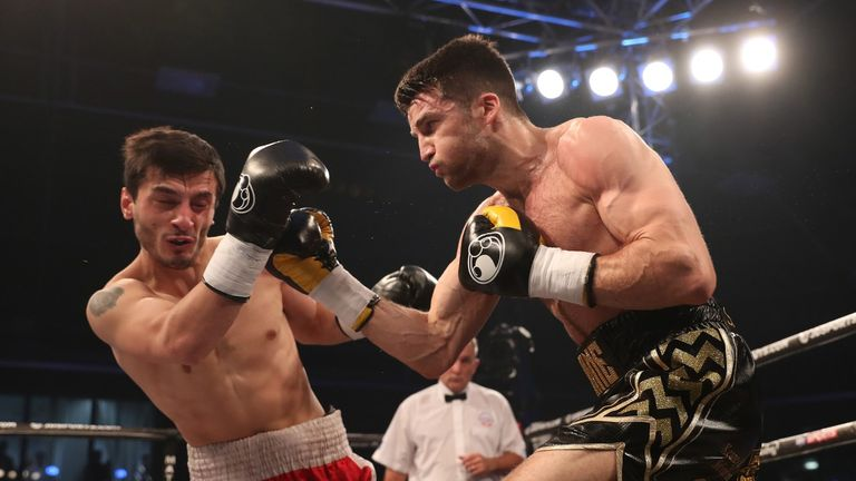 Olympian Anthony Fowler (R) fights on home turf for the first time in his professional career
