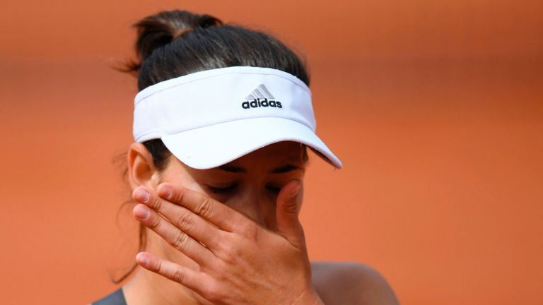 Garbine Muguruza was frustrated by the crowd