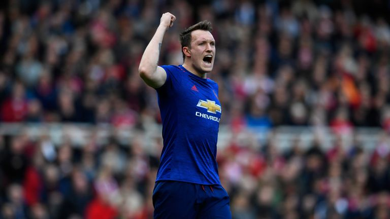 Phil Jones is now one of five centre-backs at Manchester United