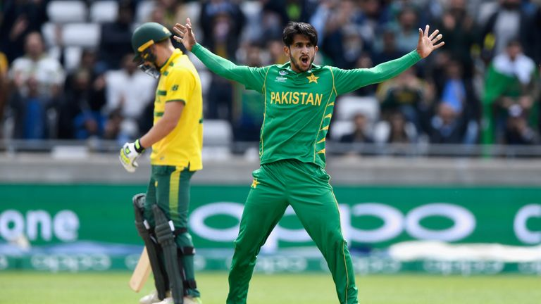 Hasan Ali was named Player of the Tournament