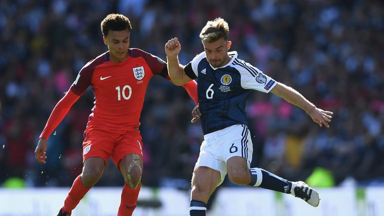 James Morrison played in the 2-2 draw against England at Hampden Park in June