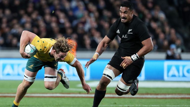 Kaino in action for New Zealand