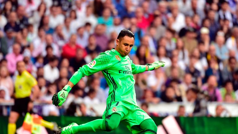 Keylor Navas, Real's current No 1, has not hit the heights of last season