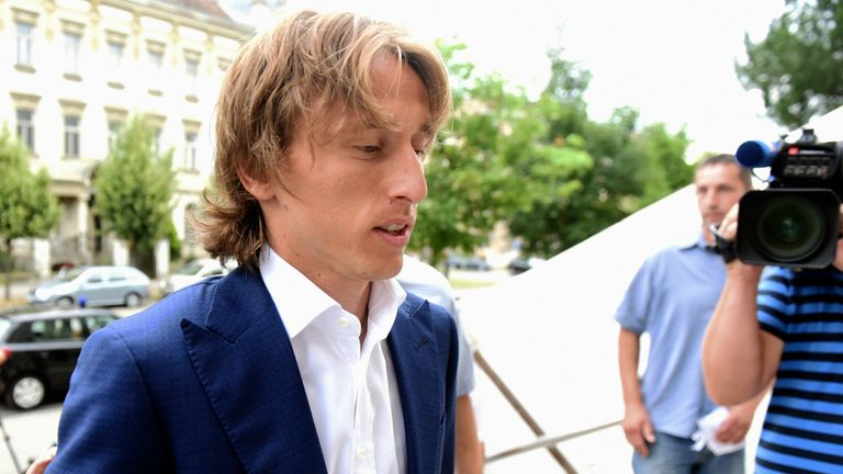 Real Madrid's midfielder Luka Modric testified about his financial deals with a former Dinamo Zagreb director
