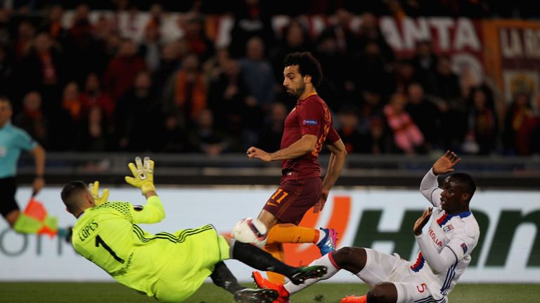 Salah scored 19 goals for Roma last season as they pushed for the Serie A title