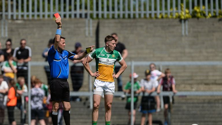 Cian Donoghue of Offaly was sent off during the Westmeath v Offaly replay