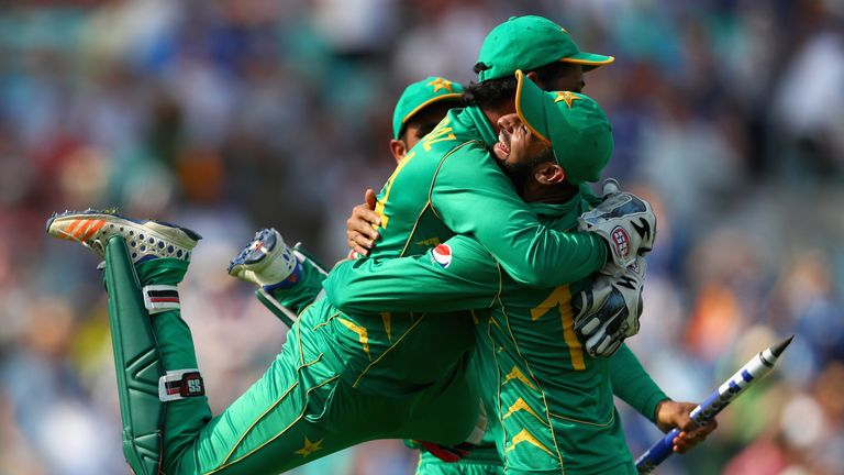 Pakistan beat India to win the eighth ICC Champions Trophy