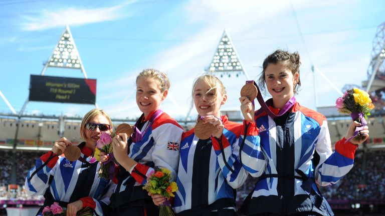 Breen (right) made the podium at London 2012 with a relay bronze