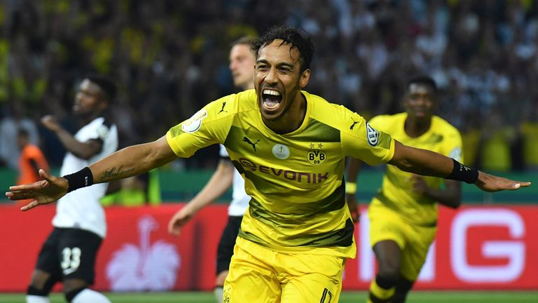 Aubameyang scored 40 goals last season