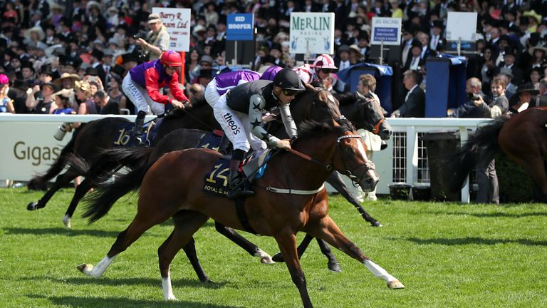 Rajasinghe on his way to winning the Coventry Stakes
