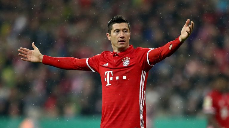 Robert Lewandowski scored the second goal for Bayern Munich on Saturday