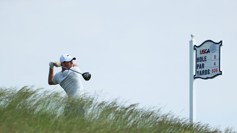 Rory McIlroy is not concerned by the thick rough at Erin Hills