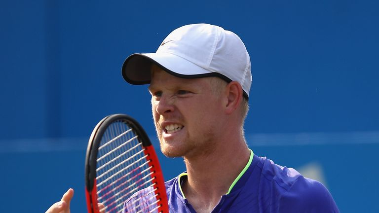 Kyle Edmund has fallen at the first hurdle at Queen's