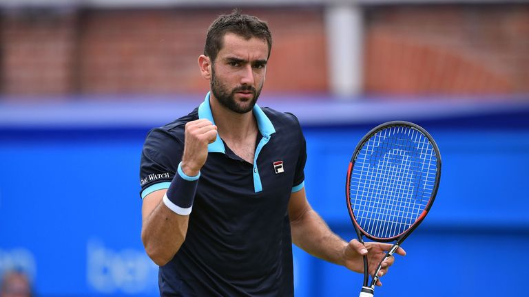 Marin Cilic storms into Queen's Club Championship final beating Gilles Muller