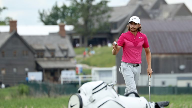 Tommy Fleetwood was tied for the lead until making his only mistake of the third day at 18