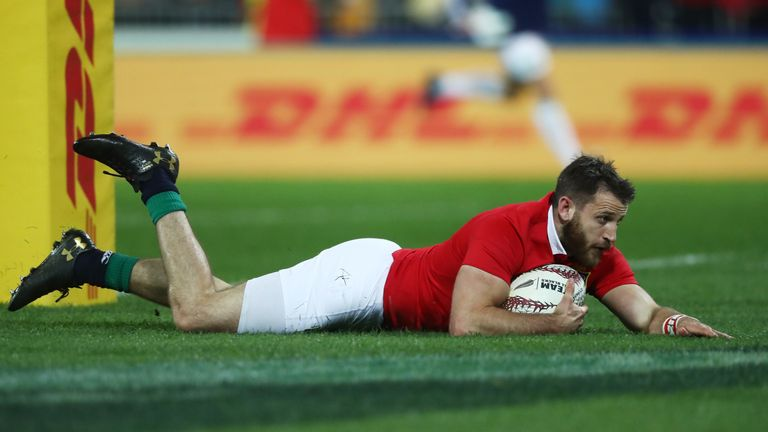 Tommy Seymour became the Lions' leading try scorer with a double in Wellington