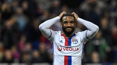 Alexandre Lacazette's future at Lyon remains in question