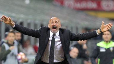 Luciano Spalletti's Inter lost for the first time this season