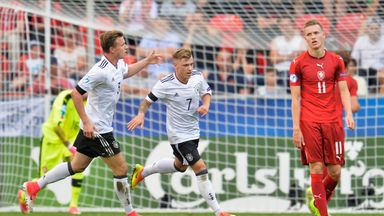 Max Meyer (right) has been a standout player for Germany U21s