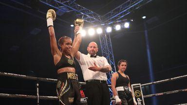 Natasha Jonas stopped Monika Antonik in the first round of her professional debut