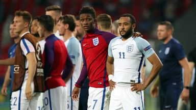 Nathan Redmond looks dejected after his missed penalty meant England were knocked out of the U21 Euros