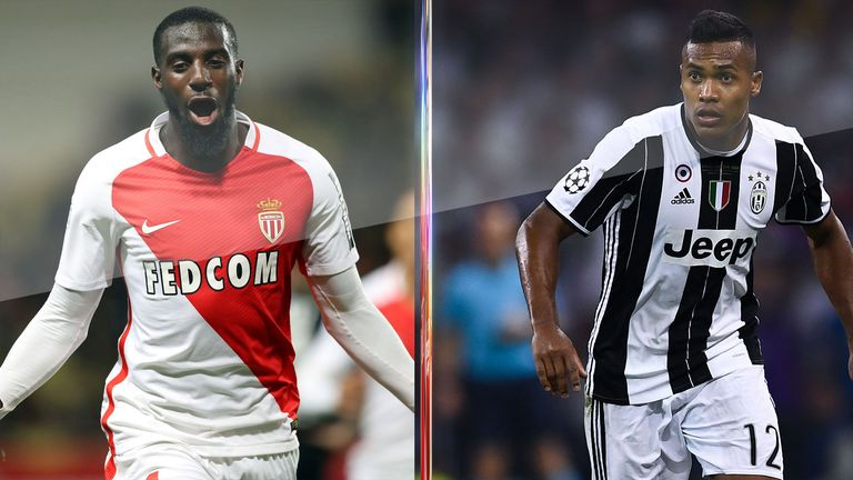 Monaco's Tiemoue Bakayoko and Juventus' Alex Sandro have been linked with Chelsea