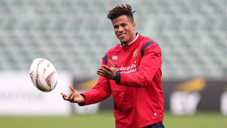 British and Irish Lions Anthony Watson during the training session at the QBE Stadium, Auckland.