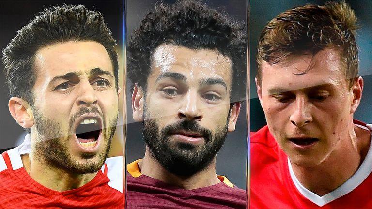 Bernardo Silva, Mohamed Salah and Victor Lindelof