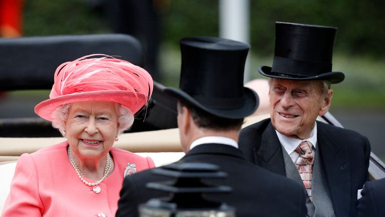 The Queen and Price Phillip at Royal Ascot