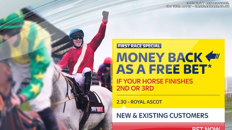 Sky Bet money-back racing offer for June 22