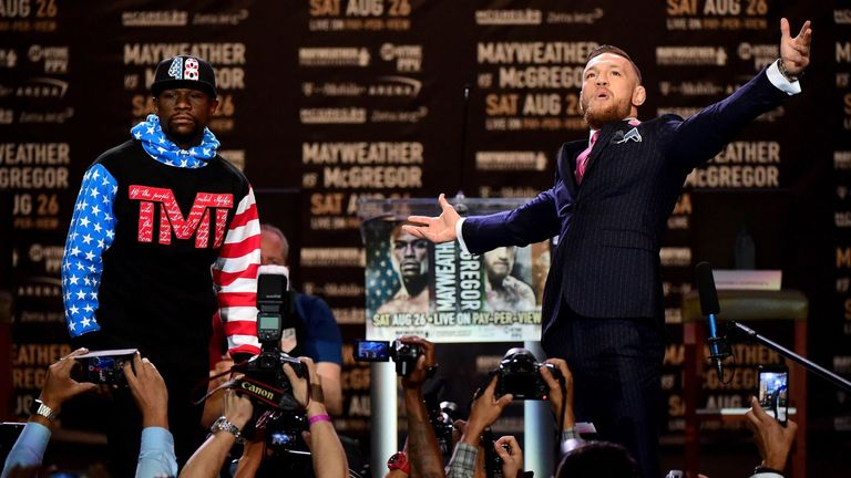 Mayweather and McGregor will make a 'Grand Arrival' on Tuesday