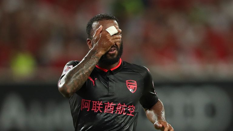 Alexandre Lacazette played the first 45 minutes for Arsene Wenger's side