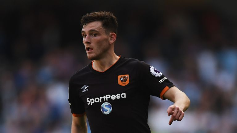 Liverpool are in talks with Hull over the signing of Andrew Robertson